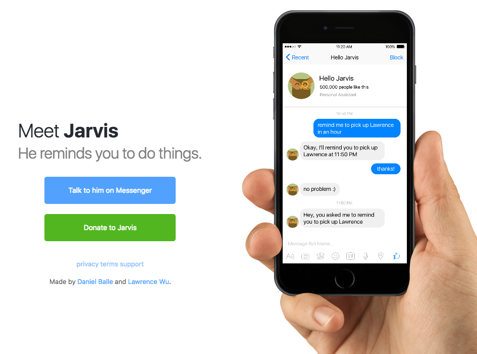 Jarvis Personal Assistant Chatbot