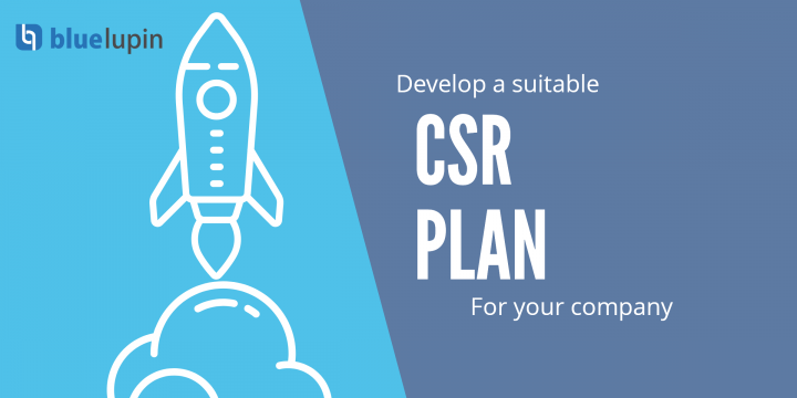 Rocket launch - image showing how to develop suitable CSR plan