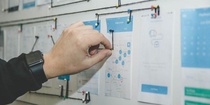 Designer linking app interaction flow